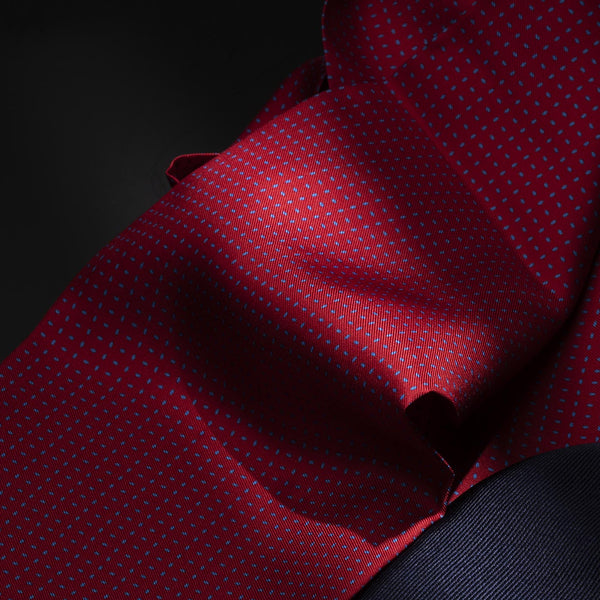 Silk Ascot Tie, Red-ANTORINI®