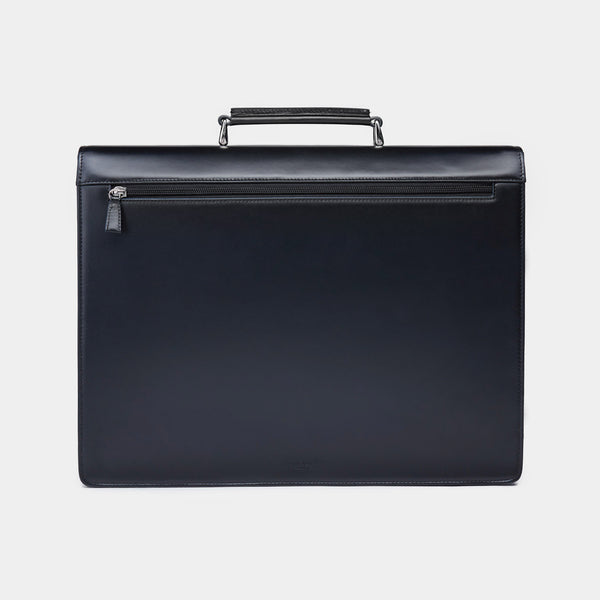 Leather Briefcase in black-ANTORINI®