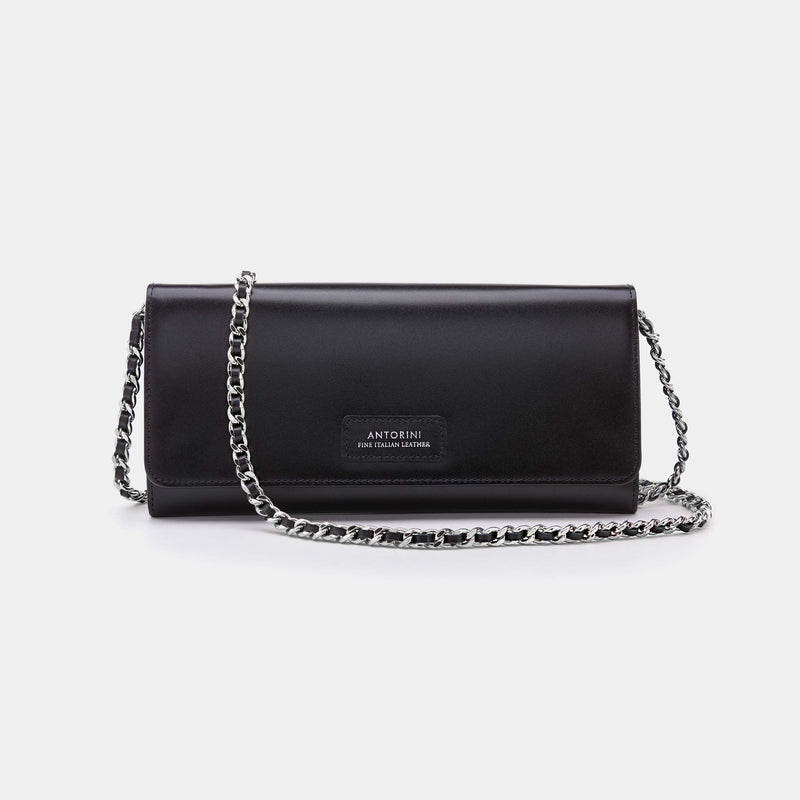 Luxurious Satin Concetta Wallet in Black-ANTORINI®