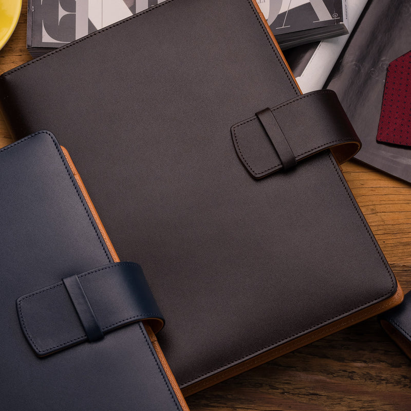 Leather Manager A5 Agenda in Brown and Cognac-ANTORINI®