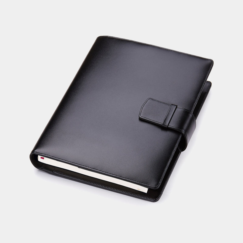 Leather A5 Padfolio in Satin with Notepad-ANTORINI®