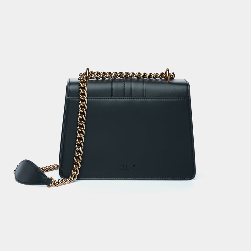 LUXURIOUS HANDBAG ANTORINI CHANTAL, BLACK-ANTORINI®