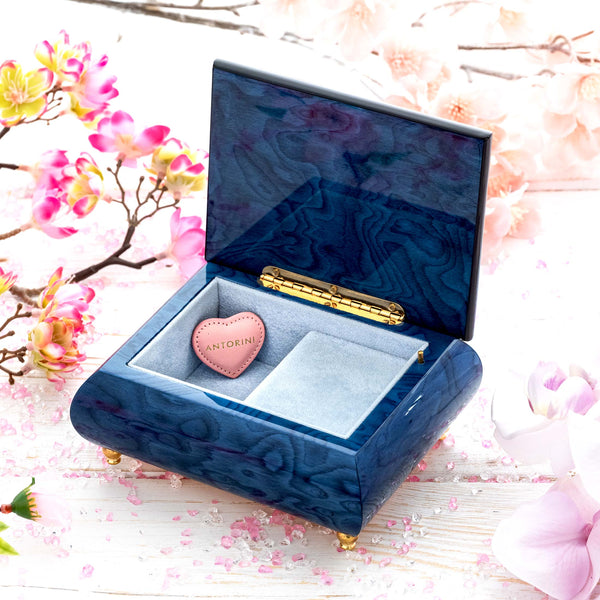 "Music Jewellery Box with Motive of ""The Violet Crowned Hummingbird""-ANTORINI®"
