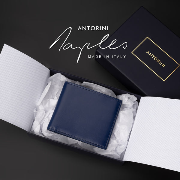 Bifold Wallet in Navy, ANTORINI Naples-ANTORINI®