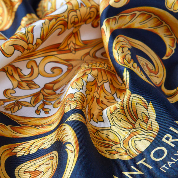 Vintage Silk Scarf in Blue-ANTORINI®