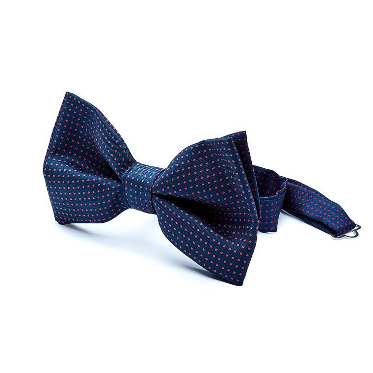 Dot Silk Bow Tie in Blue