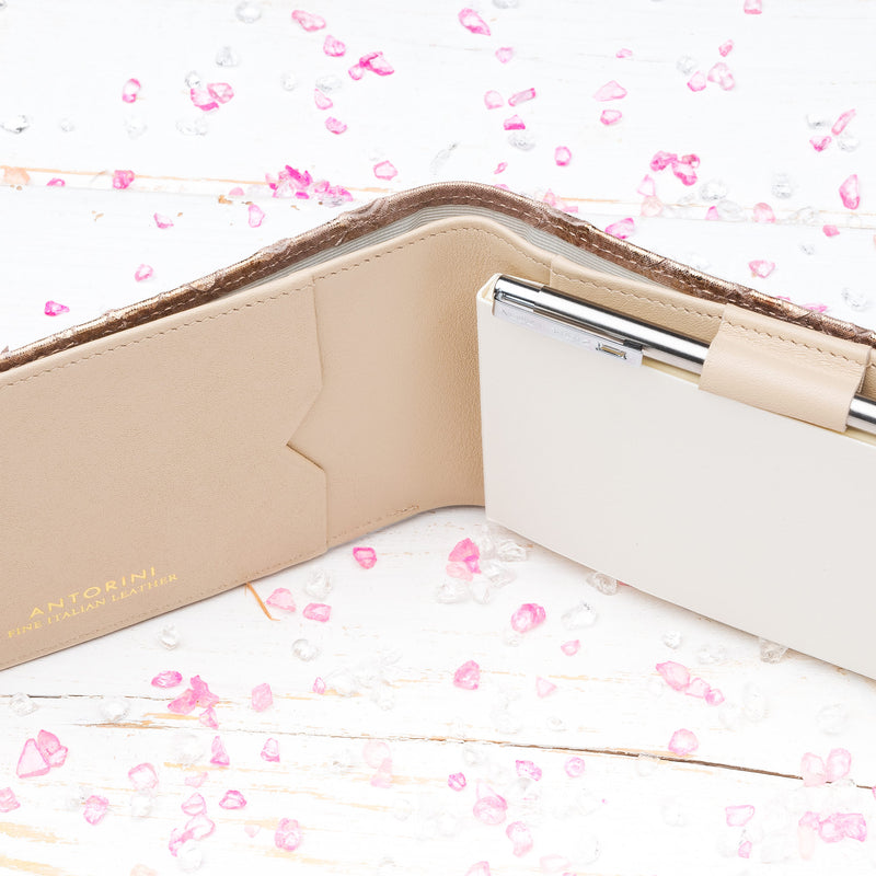Pocket Memo Pad in Bronze and Beige-ANTORINI®
