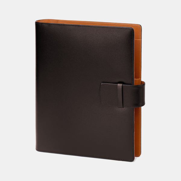 Leather Manager A5 Agenda in Brown and Cognac