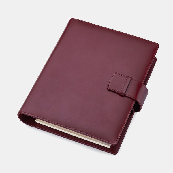 Leather Manager A5 Organiser in Burgundy