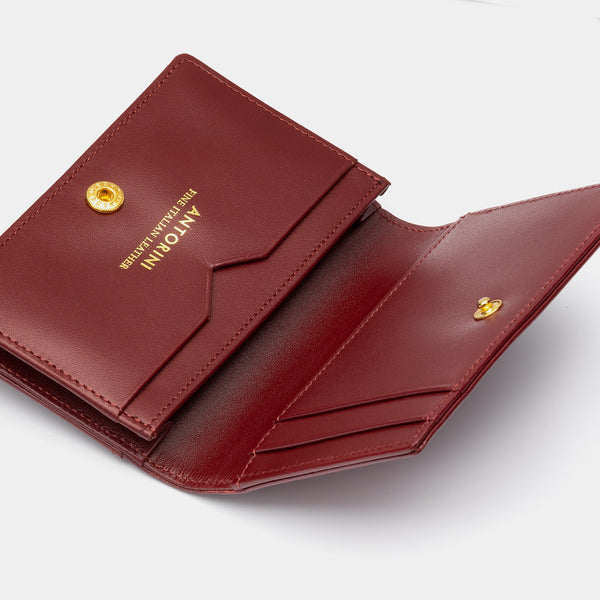 Credit and Business Card Holder in Burgundy-ANTORINI®