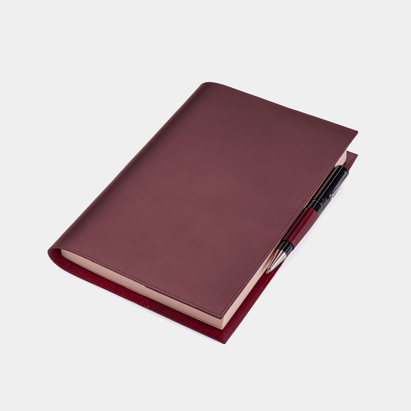 Leather Refillable Diary in Burgundy-ANTORINI®