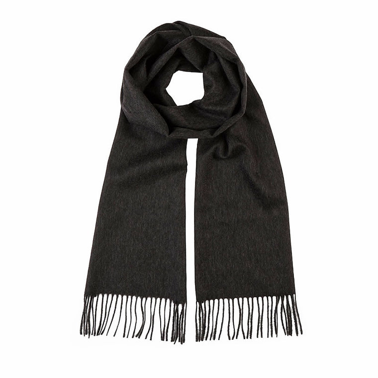 Cashmere Scarf in Dark Grey
