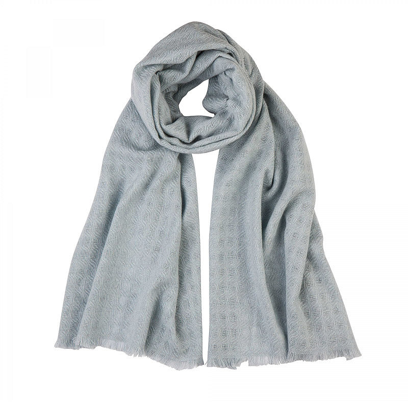 Cashmere Scarf in Metal Grey