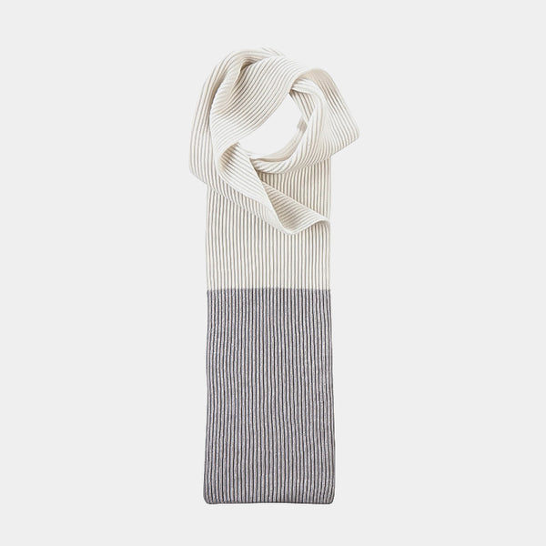 Cashmere Scarf Spectrum in Grey and White-ANTORINI®