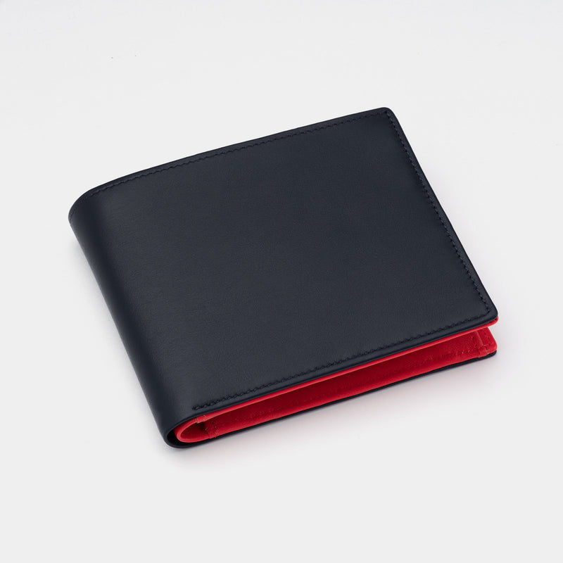 Men's Leather Wallet Essence in Black and Red-ANTORINI®