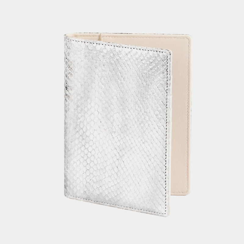 Passport Case in Silver and Ivory-ANTORINI®
