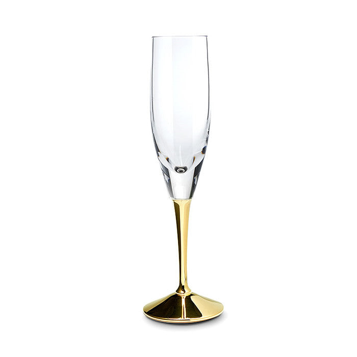 Champagne Flute, gold plated