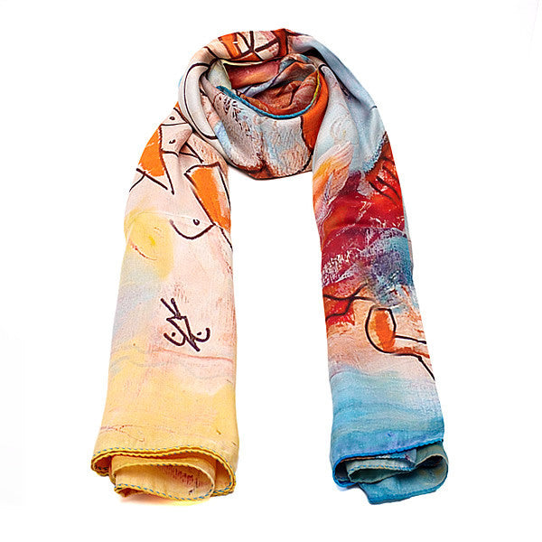 Silk Scarf in Colourful Shades-ANTORINI®