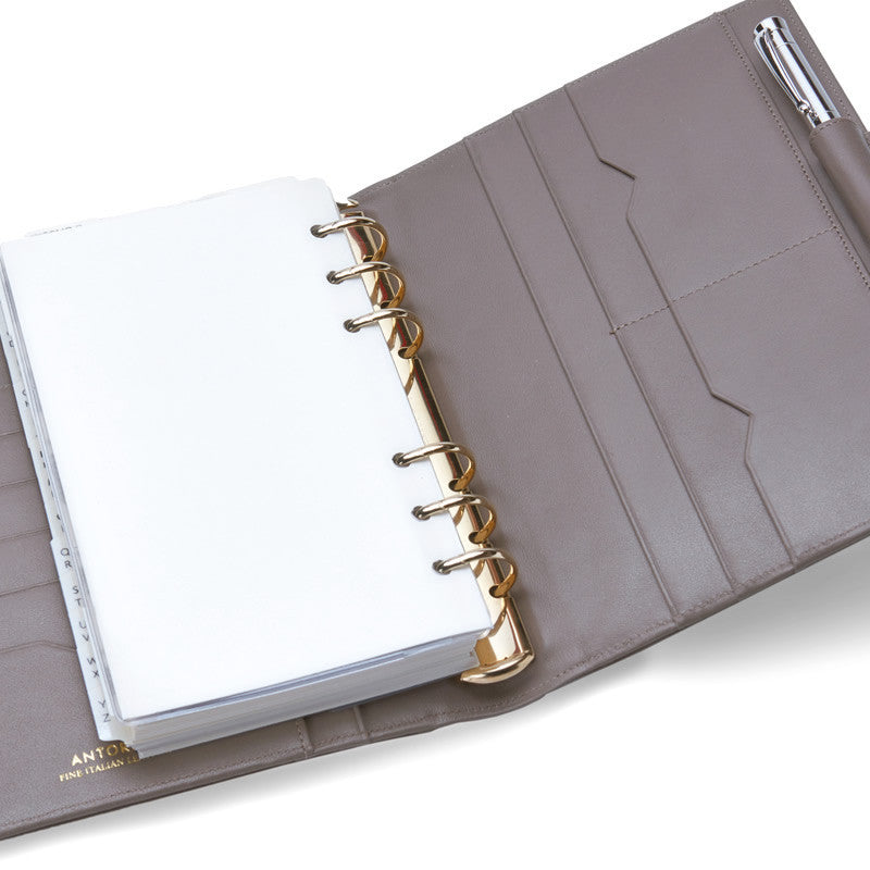 Leather Manager A6 Organiser in Chanterelle