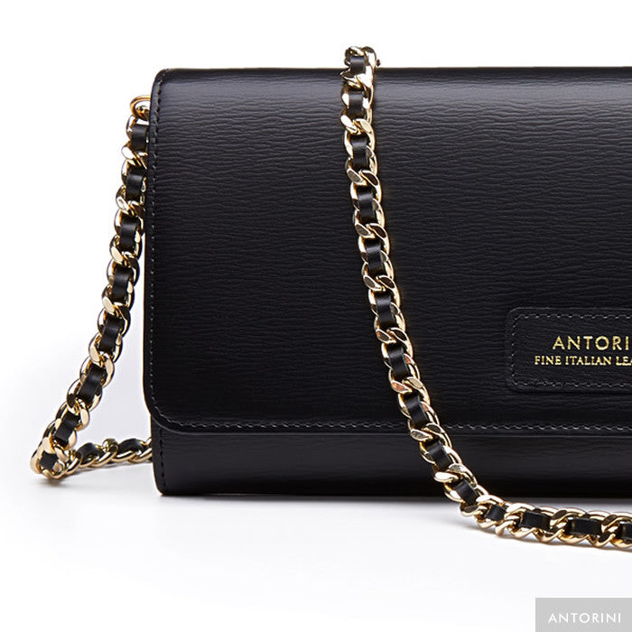 Luxurious Terre Concetta Wallet in Black-ANTORINI®