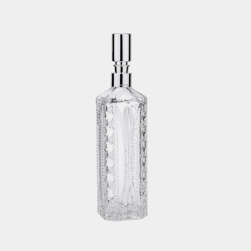 Crystal Whiskey Bottle, Silver-Plated Decoration-ANTORINI®