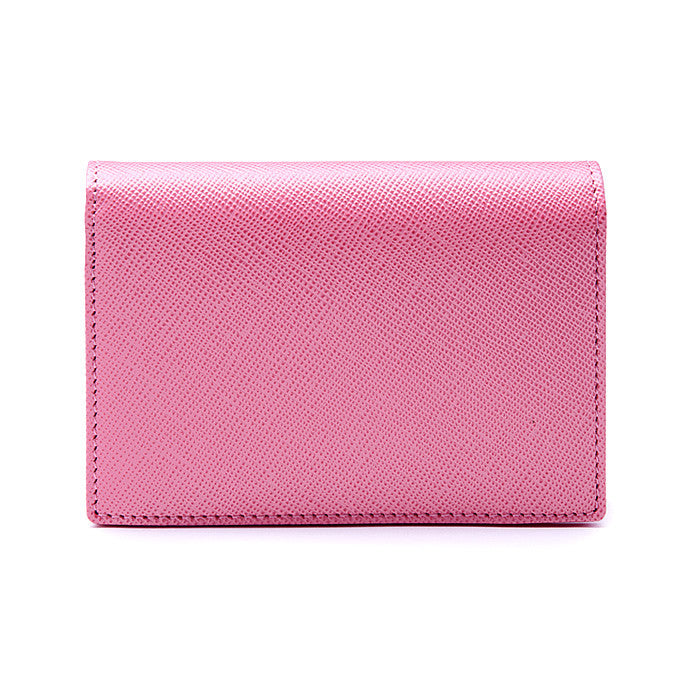 Credit & Business Holder in Pink Saffiano