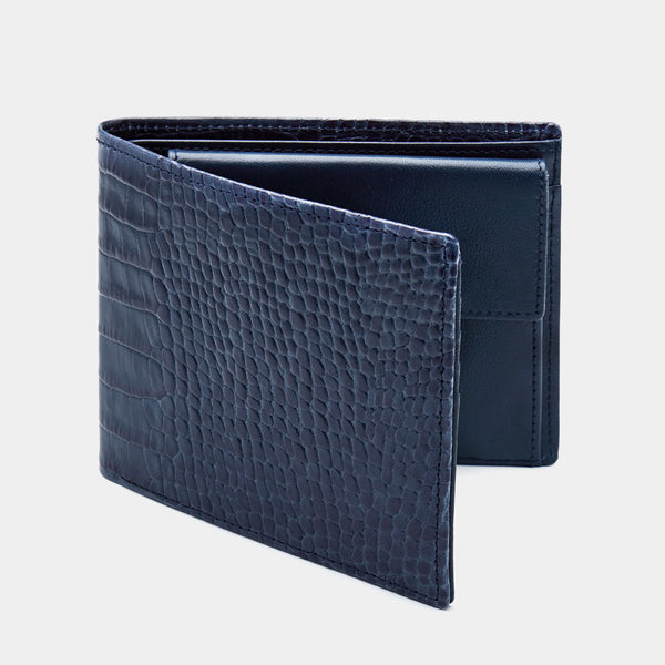 Men´s Wallet ANTORINI Elite in Blue Croc-ANTORINI®