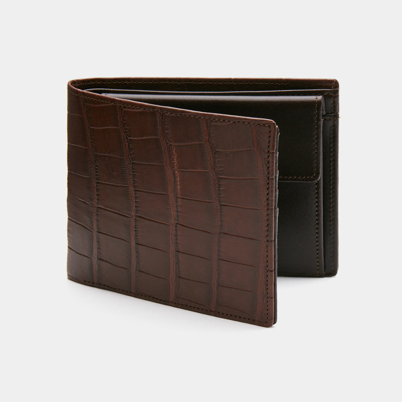 Men's Wallet ANTORINI Excellence in Brown Crocodile Leather-ANTORINI®