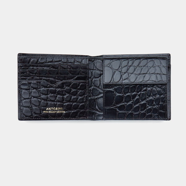 Men´s Wallet ANTORINI Elite in Black Croc-ANTORINI®