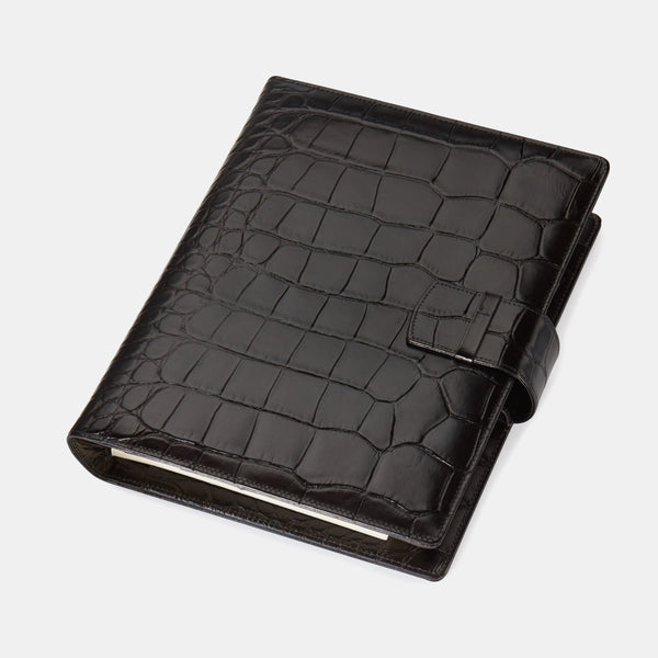 Leather Manager A5 Agenda in Black Croc,-ANTORINI®