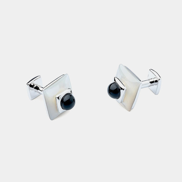 Men's Cufflinks, Mother of Pearl, Swarovski Crystals-ANTORINI®
