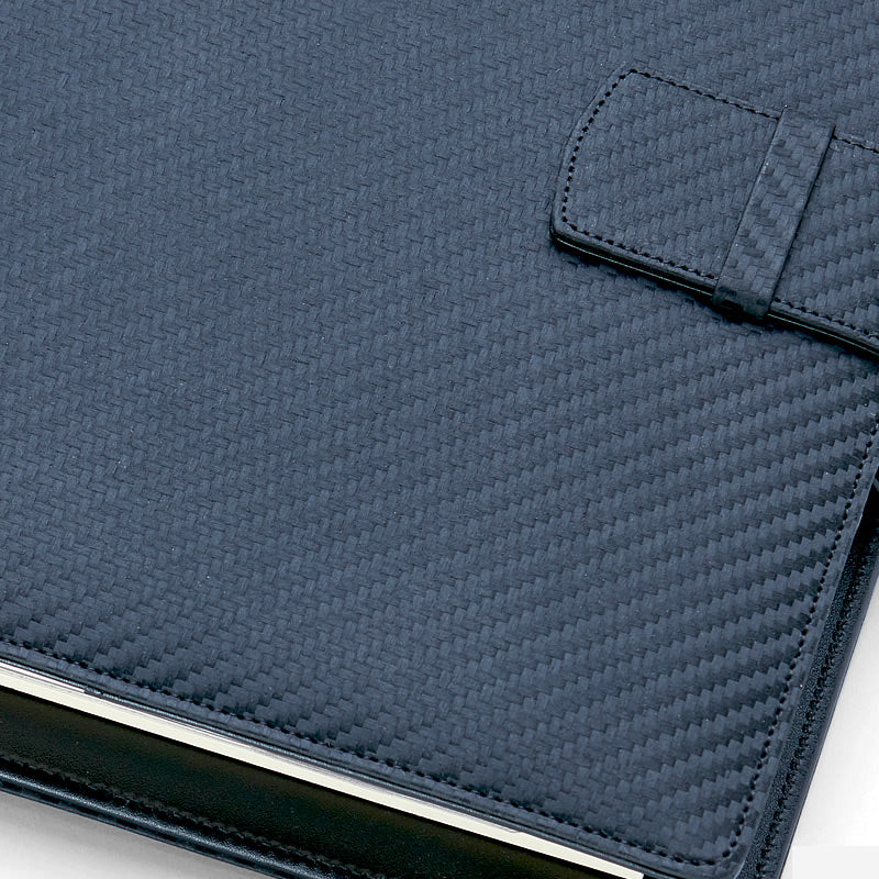 A6 Leather Planner Binder, Black Color Binder, High Quality Cover, Refilled Planner Cover, Loose Leaf Cover Binder 6 Ring. Plannerfinding.