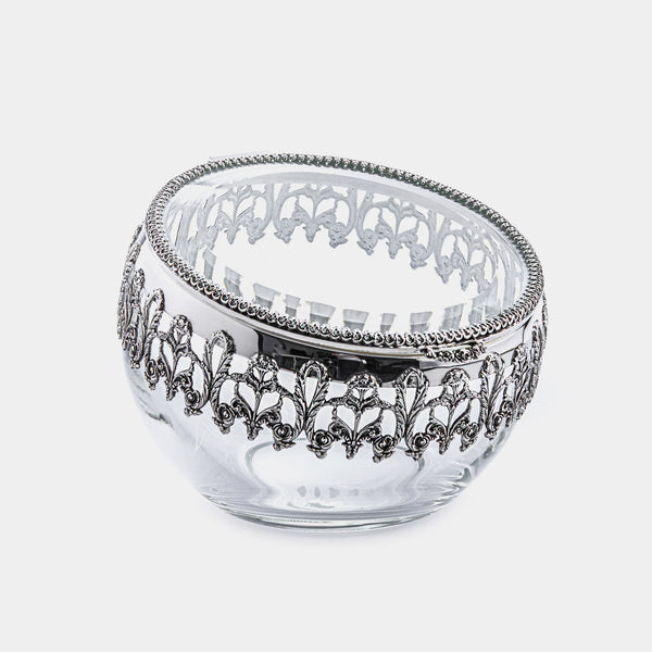 Silver Plated Round Box