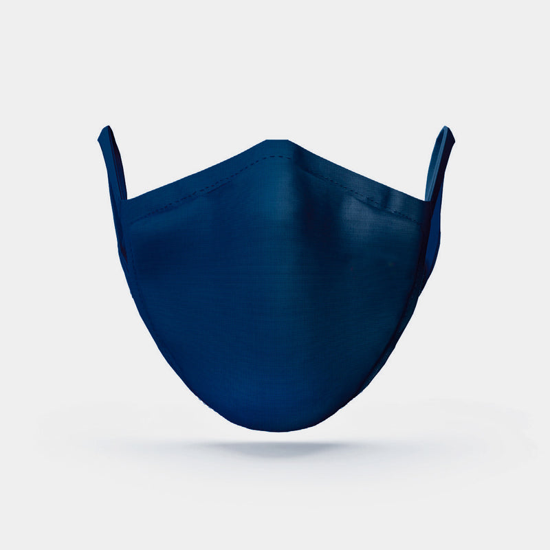 Face Mask Silk Cotton, Blue-ANTORINI®