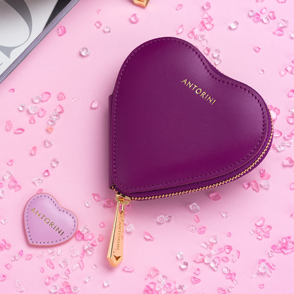 Heart Coin Purse ANTORINI in Purple