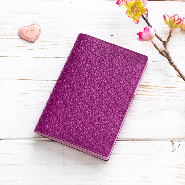 A6 Leather Pocket Diary/Journal in Purple and Lilac-ANTORINI®