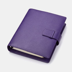 Leather Manager A5 Agenda in Purple Saffiano