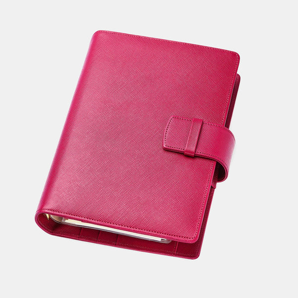 Leather Manager A6 Agenda in Fuchsia Saffiano
