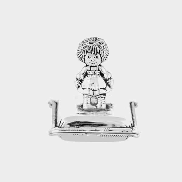 Silver Girl´s Tooth / Hair Keepsake Box, Silver 925/1000 27 g-ANTORINI®
