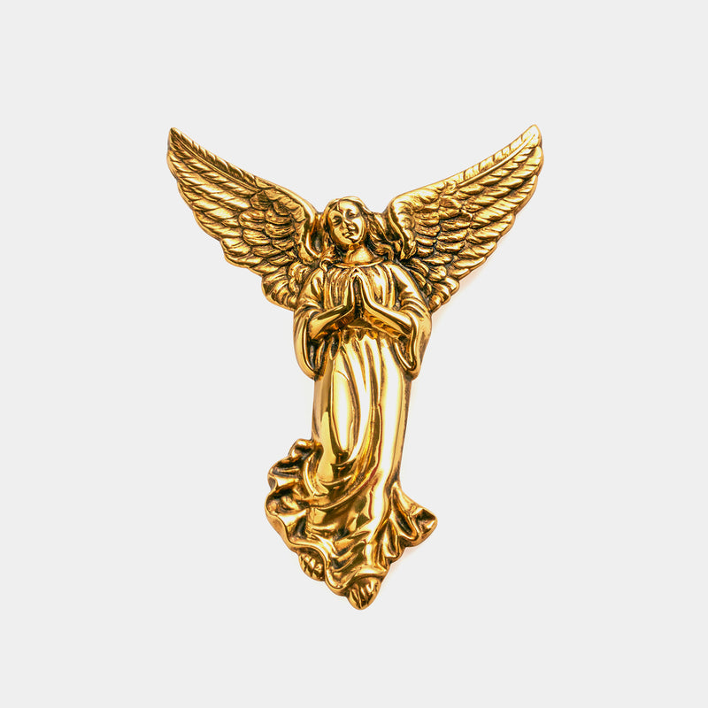 Guardian Silver Angel, 11cm, Silver 925/1000, Gold Plated-ANTORINI®