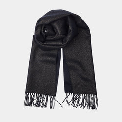 Cashmere Scarf ANTORINI in Gleaming Black, with Gold Thread-ANTORINI®