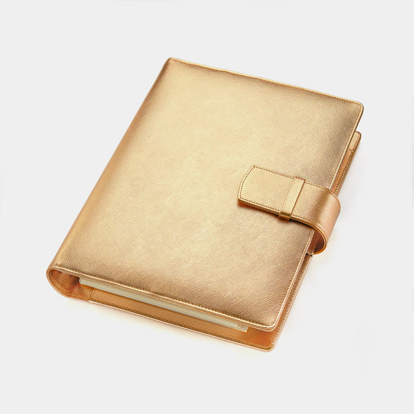 A5 Gold Women's Diary Without Ring Binder Mechanism-ANTORINI®