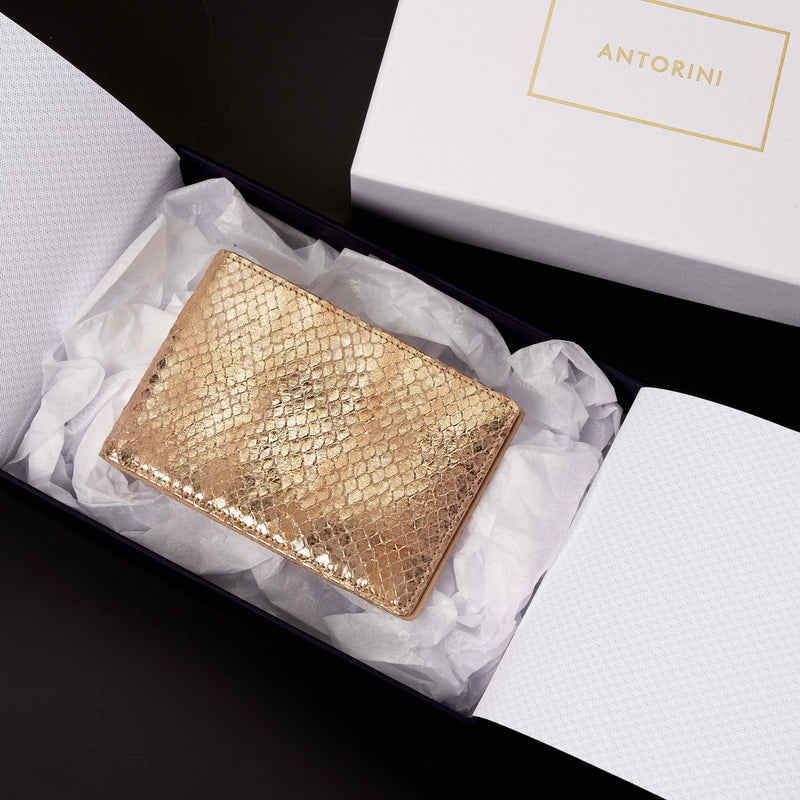 Pocket Memo Pad in Gold and Beige-ANTORINI®