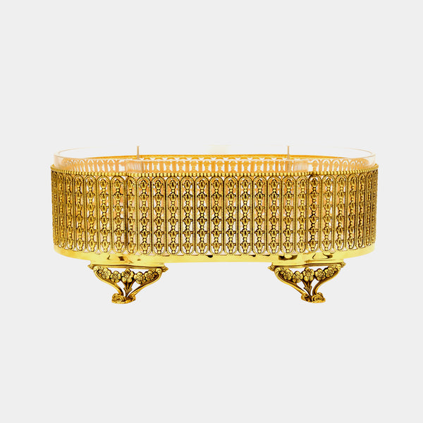 Gold Plated Bowl, Floral-ANTORINI®