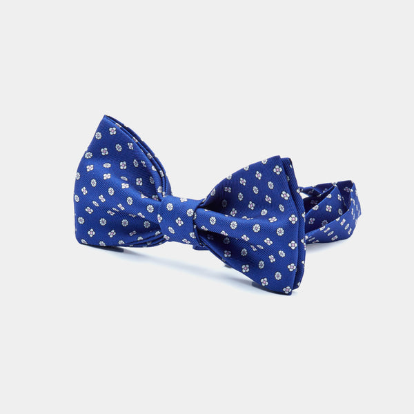 Flower Silk Bow Tie in Blue-ANTORINI®