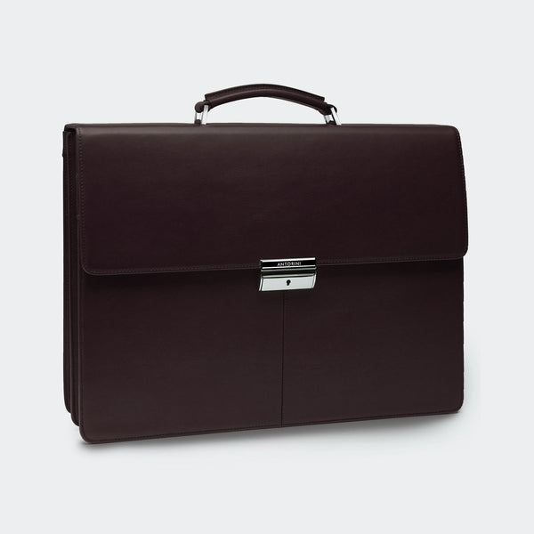Leather Briefcase in Brown-ANTORINI®