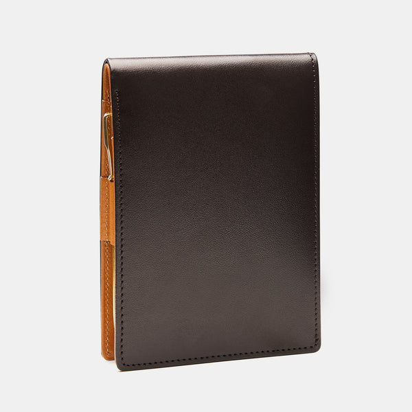 Pocket Memo Pad in Dark Brown and Cognac-ANTORINI®