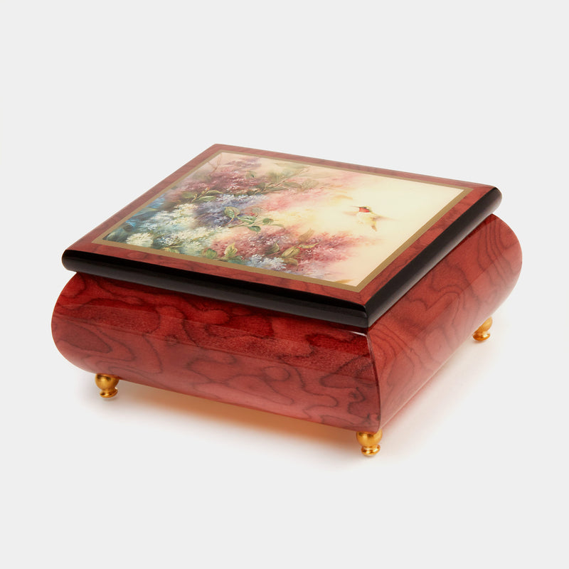 "Music Jewellery Box with Motive of ""Hummingbird and Lilacs""-ANTORINI®"