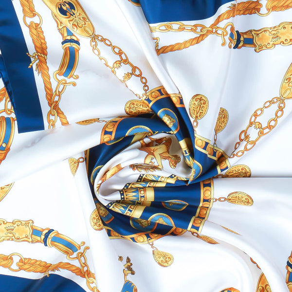 Imperial Silk Scarf in Blue-ANTORINI®