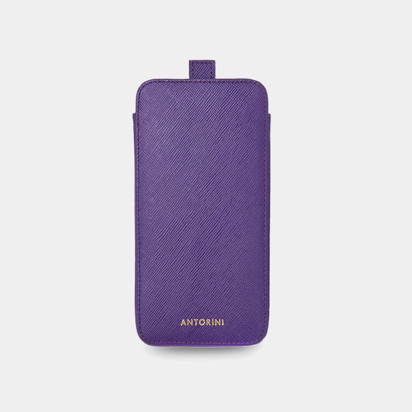 iPhone 8 Plus Case in Purple Saffiano-ANTORINI®